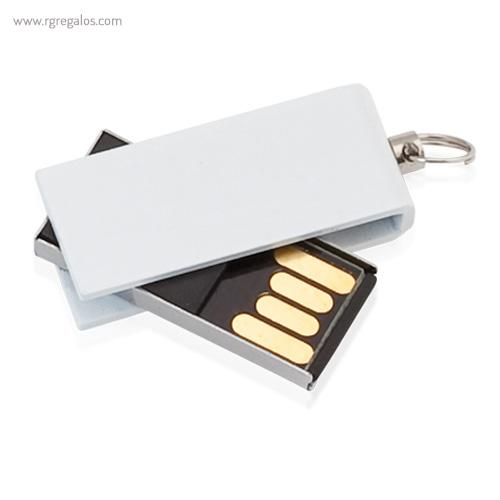 Mini memoria USB 8 GB blanca - RG regalos publicitarios