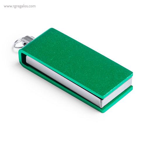 Mini memoria USB 8 GB verde - RG regalos publicitarios
