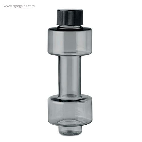 Botella de agua mancuerna gris - RG regalos publicitarios