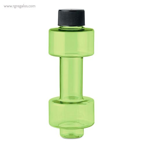 Botella de agua mancuerna verde - RG regalos publicitarios
