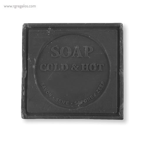 Pastilla de jabón con caja negro - RG regalos publicitarios