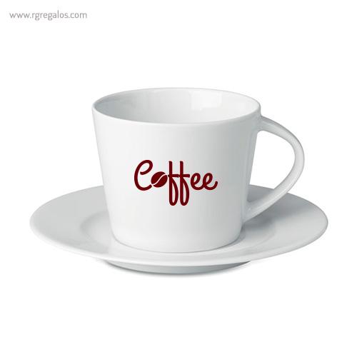 Taza de cerámica para cappuccino con logo - RG regalos publicitarios