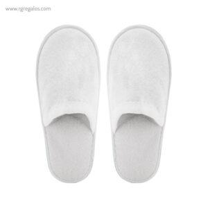 Zapatillas rizo unisexblancas - RG regalos publicitarios