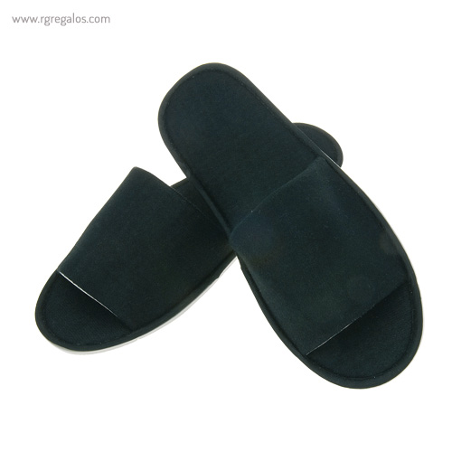 Zapatillas unisex algodón negras - RG regalos publicitarios