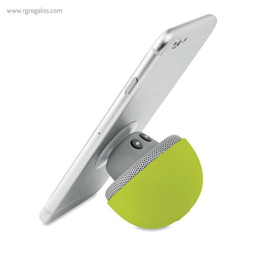 Altavoz y soporte para móvil verde detalle - RG regalos publicitarios