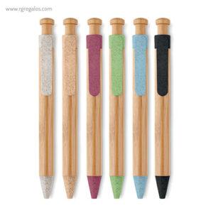 Bolígrafo cuerpo de bamboo - RG regalos publicitarios