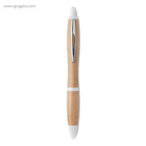 Bolígrafo de bambú blanco - RG regalos publicitarios