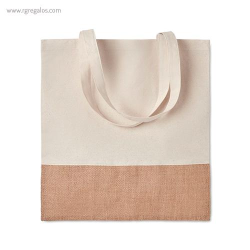 Bolsa combinación yute y algodón asas largas - RG regalos publicitarios