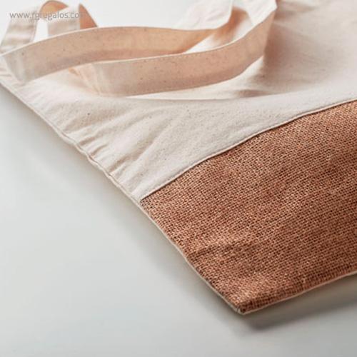 Bolsa combinación yute y algodón detalle - RG regalos publicitarios