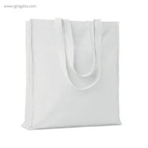 Bolsa compra 100% algodón blanco con fuelle - RG regalos publicitarios