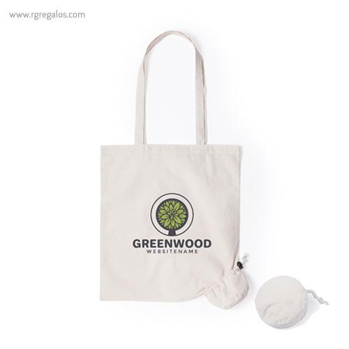 Bolsa plegable 100% algodón - RG regalos publicitarios