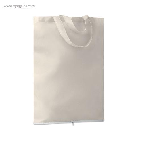 Bolsa plegable algodón 100 gr con cremallera - RG regalos publicitarios