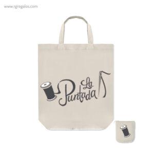 Bolsa plegable algodón con cremallera - RG regalos publicitarios