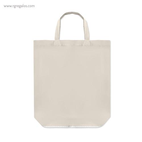 Bolsa plegable algodón con cremallera asas cortas - RG regalos publicitarios