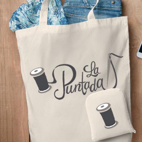 Bolsa plegable algodón con cremallera detalle 1- RG regalos publicitarios