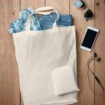 Bolsa plegable algodón con cremallera detalle - RG regalos publicitarios