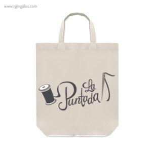 Bolsa plegable algodón con cremallera logotipo - RG regalos publicitarios