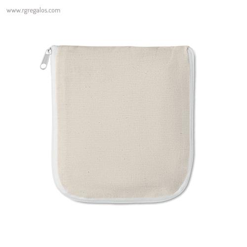 Bolsa plegable algodón con cremallera plegable - RG regalos publicitarios