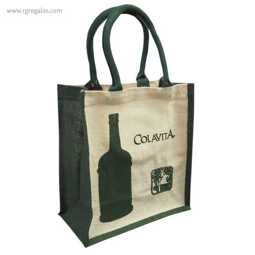 Bolsas yute 100% personalizadas laterales colores - RG regalos publicitarios