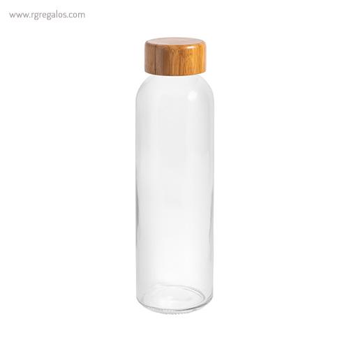 Botella de cristal tapón bambú natural - RG regalos publicitarios
