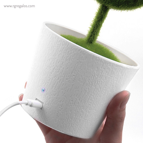 Planta purificadora de aire con cable USB incluido - RG regalos publicitarios