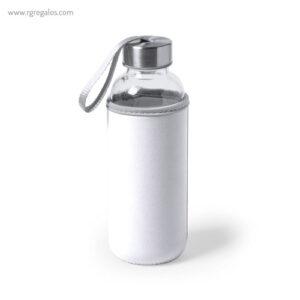 Botella con funda de neopreno 420 ml blanca - RG regalos publicitarios