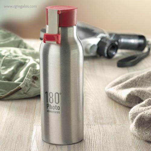 Botella de aluminio personalizada 500 ml bodegon - RG regalos publicitarios