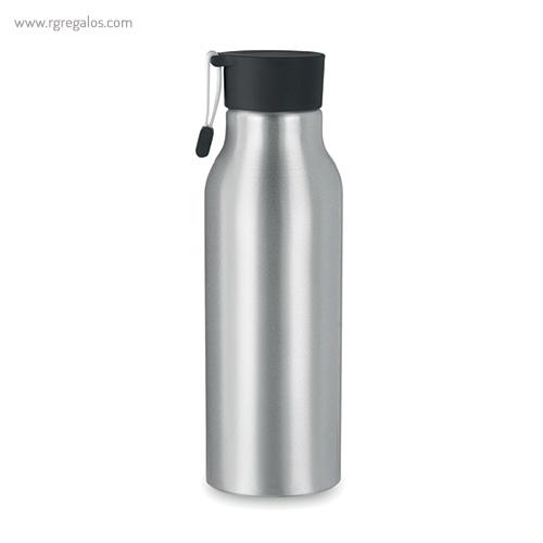 Botella de aluminio personalizada 500 ml negra - RG regalos publicitarios