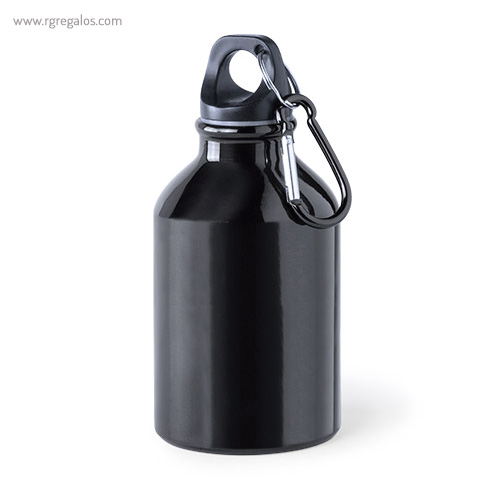 Botella de deporte aluminio 330 ml negra - RG regalos publicitarios