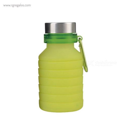 Botella plegable de silicona 500 ml amarilla - RG regalos publicitarios