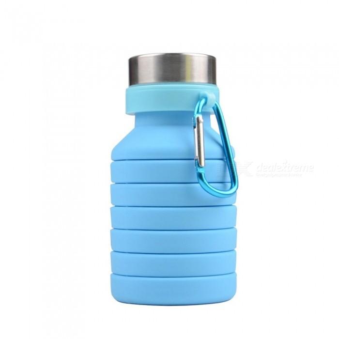 Botella plegable de silicona 500 ml azul - RG regalos publicitarios