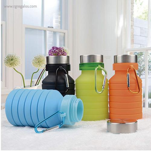 Botella plegable de silicona 500 ml bodegón - RG regalos publicitarios