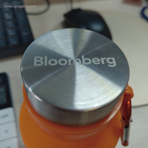 Botella plegable de silicona 500 ml con logotipo - RG regalos publicitarios