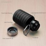 Botella plegable de silicona 500 ml detalles - RG regalos publicitarios