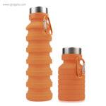 Botella plegable de silicona 500 ml naranja - RG regalos publicitarios