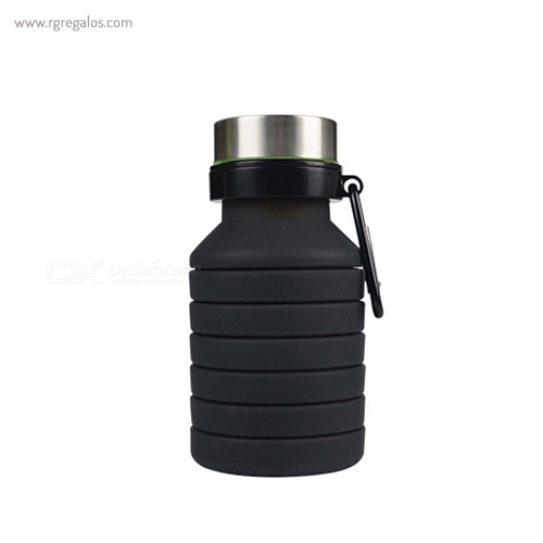 Botella plegable de silicona 500 ml negra - RG regalos publicitarios