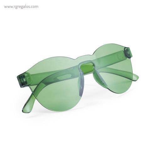 Gafas de sol monocolor verdes plegadas - RG regalos publicitarios