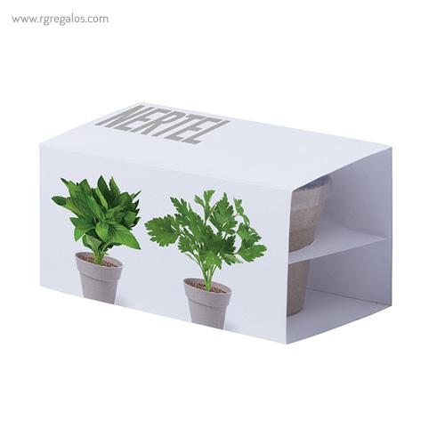 Macetero biodegradable 2 piezas caja - RG regalos publicitarios