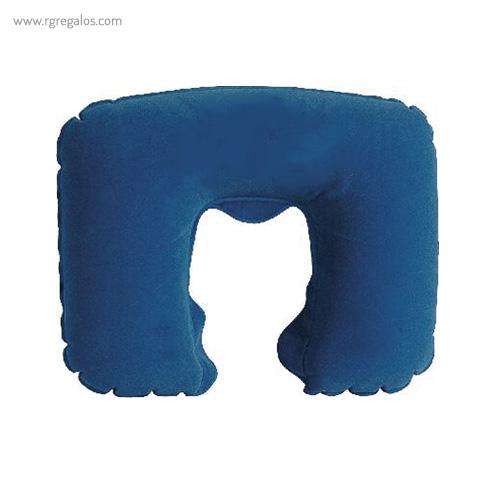 Almohadilla inflable de viaje azul - RG regalos publicitarios
