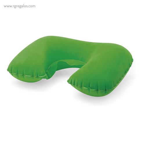 Almohadilla inflable de viaje verde - RG regalos publicitarios