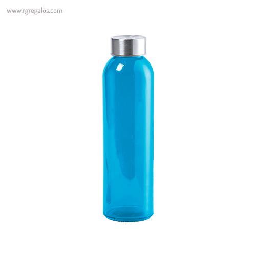 Botella de cristal colores de 500 ml azul - RG regalos promocionales