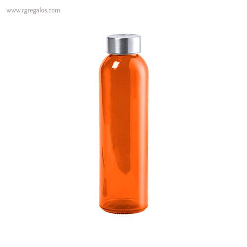 Botella de cristal colores de 500 ml naranja - RG regalos promocionales