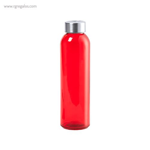 Botella de cristal colores de 500 ml roja - RG regalos promocionales