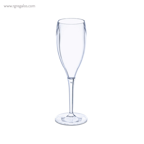 Copa champagne plástico reutilizable transparente - RG regalos