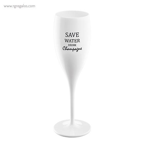 Copa champagne reutilizable con frase 1 - RG regalos publicitarios