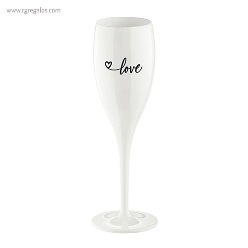 Copa champagne reutilizable con frase 2 - RG regalos publicitarios