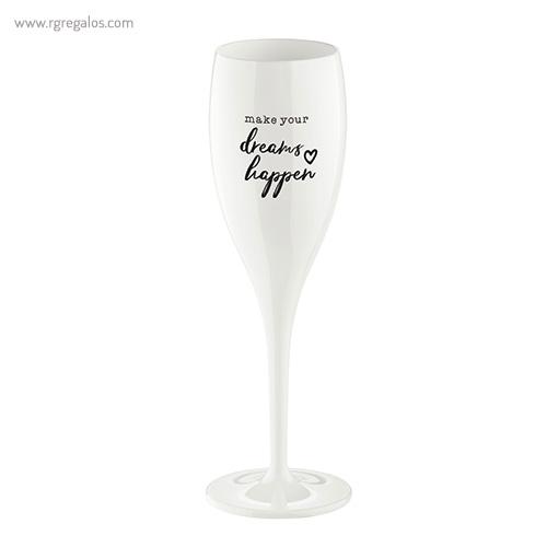 Copa champagne reutilizable con frase 3 - RG regalos publicitarios