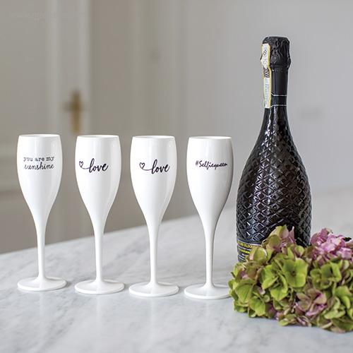 Copa champagne reutilizable con frase bodegon 1 - RG regalos publicitarios