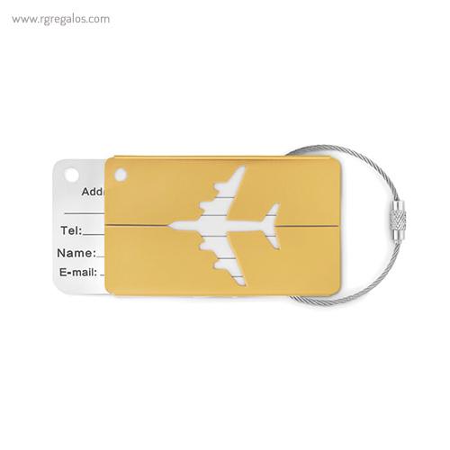 Identificador de maleta en aluminio amarillo - RG regalos publicitarios
