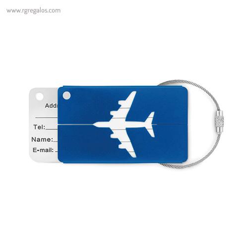 Identificador de maleta en aluminio azul - RG regalos publicitarios